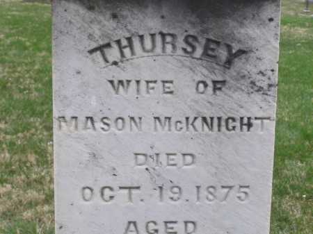 MCKNIGHT, THURSEY (THURZA) - Licking County, Ohio | THURSEY (THURZA) MCKNIGHT - Ohio Gravestone Photos