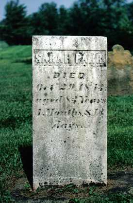 LEONARD PARR, SARAH - Licking County, Ohio | SARAH LEONARD PARR - Ohio Gravestone Photos