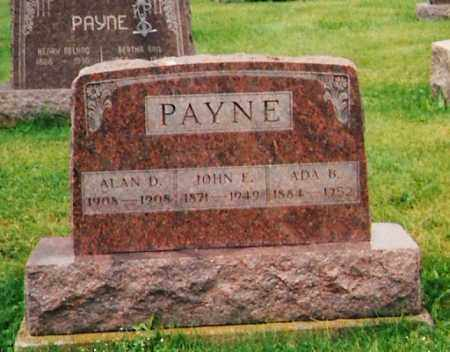 PAYNE, ALAN D. - Licking County, Ohio | ALAN D. PAYNE - Ohio Gravestone Photos