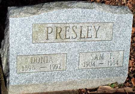 PRESLEY, SAM F. - Licking County, Ohio | SAM F. PRESLEY - Ohio Gravestone Photos
