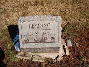 READING, JANE CHARLOTTE - Licking County, Ohio | JANE CHARLOTTE READING - Ohio Gravestone Photos
