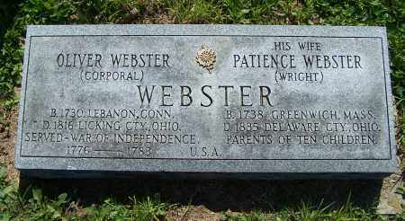 WEBSTER, PATIENCE - Licking County, Ohio | PATIENCE WEBSTER - Ohio Gravestone Photos