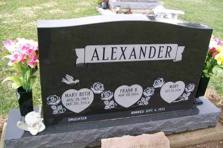 ALEXANDER, MARY BETH - Logan County, Ohio | MARY BETH ALEXANDER - Ohio Gravestone Photos