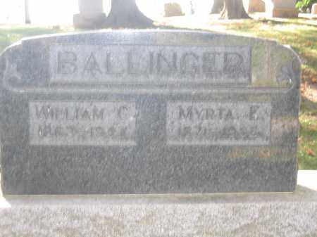 BALLINGER, WILLIAM C. - Logan County, Ohio | WILLIAM C. BALLINGER - Ohio Gravestone Photos