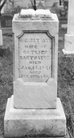 BARTHAUER, MARGARET ANN - Logan County, Ohio | MARGARET ANN BARTHAUER - Ohio Gravestone Photos