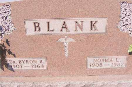 BLANK, DR. BYRON B. - Logan County, Ohio | DR. BYRON B. BLANK - Ohio Gravestone Photos
