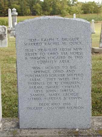BRUGLER, RALPH - Logan County, Ohio | RALPH BRUGLER - Ohio Gravestone Photos