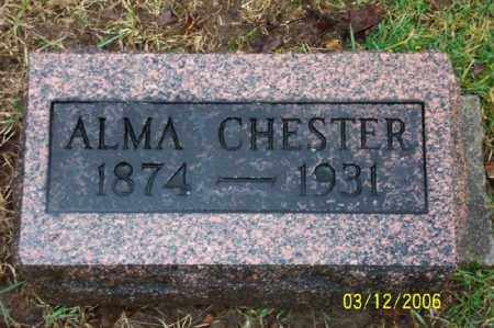 CHESTER, ALMA - Logan County, Ohio | ALMA CHESTER - Ohio Gravestone Photos