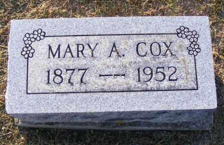 COX, MARY A. - Logan County, Ohio | MARY A. COX - Ohio Gravestone Photos