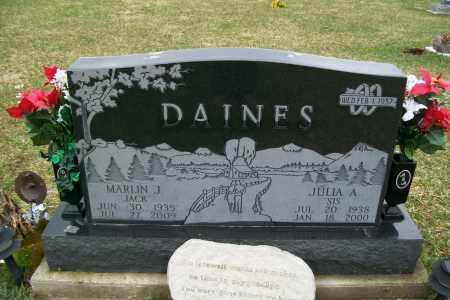 DAINES, MARLIN J. - Logan County, Ohio | MARLIN J. DAINES - Ohio Gravestone Photos