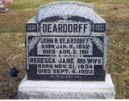 DEARDORFF, JOHN R - Logan County, Ohio | JOHN R DEARDORFF - Ohio Gravestone Photos