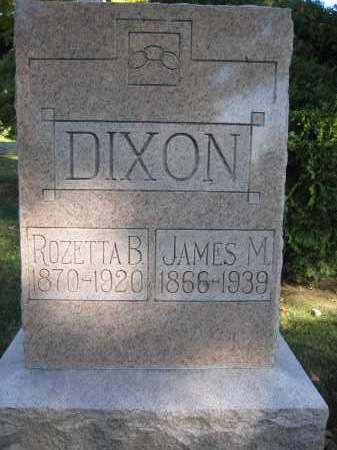 DIXON, JAMES M. - Logan County, Ohio | JAMES M. DIXON - Ohio Gravestone Photos