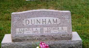DUNHAM, ESTHER B. - Logan County, Ohio | ESTHER B. DUNHAM - Ohio Gravestone Photos
