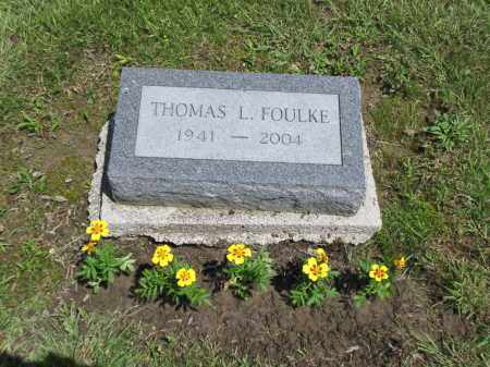 FOULKE, THOMAS LEE - Logan County, Ohio | THOMAS LEE FOULKE - Ohio Gravestone Photos