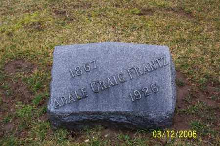 FRANTZ, ADALE GRAIG - Logan County, Ohio | ADALE GRAIG FRANTZ - Ohio Gravestone Photos