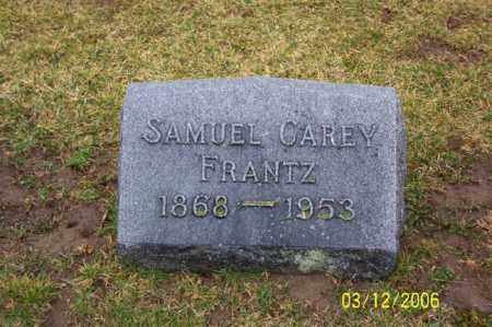 FRANTZ, SAMUAL CAREY - Logan County, Ohio | SAMUAL CAREY FRANTZ - Ohio Gravestone Photos