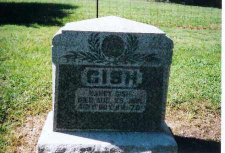 GISH, NANCY - Logan County, Ohio | NANCY GISH - Ohio Gravestone Photos