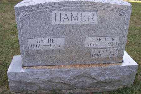 HAMER, D. ARTHUR - Logan County, Ohio | D. ARTHUR HAMER - Ohio Gravestone Photos