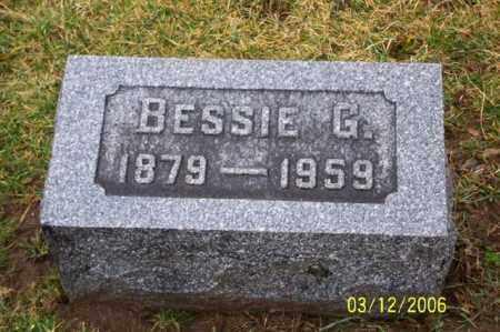 HAMSHER, BESSIE G - Logan County, Ohio | BESSIE G HAMSHER - Ohio Gravestone Photos