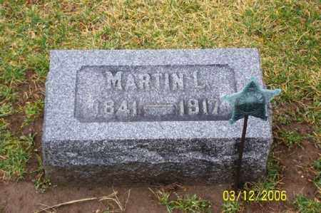 HAMSHER, MARTIN L. - Logan County, Ohio | MARTIN L. HAMSHER - Ohio Gravestone Photos