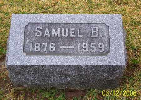 HAMSHER, SAMUAL B - Logan County, Ohio | SAMUAL B HAMSHER - Ohio Gravestone Photos