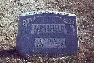 HARSHFIELD, BERTHA BRULER - Logan County, Ohio | BERTHA BRULER HARSHFIELD - Ohio Gravestone Photos