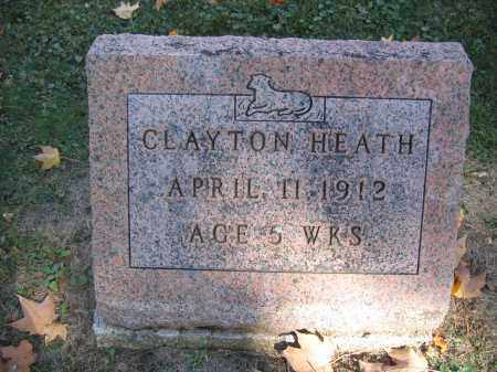 HEATH, CLAYTON - Logan County, Ohio | CLAYTON HEATH - Ohio Gravestone Photos