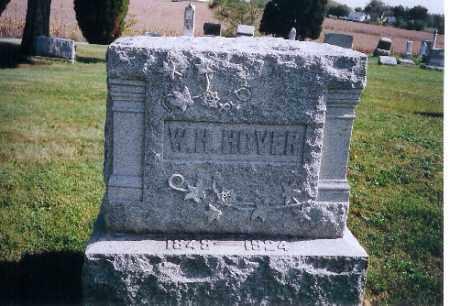 HOVER, W.H. - Logan County, Ohio | W.H. HOVER - Ohio Gravestone Photos