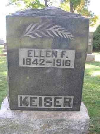 KEISER, ELLEN F. - Logan County, Ohio | ELLEN F. KEISER - Ohio Gravestone Photos