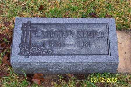 KEMPER, VIRGINIA - Logan County, Ohio | VIRGINIA KEMPER - Ohio Gravestone Photos