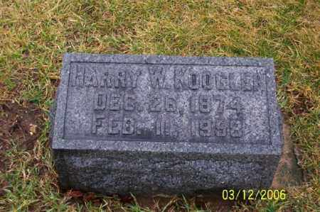 KOOGLE, HARRY W - Logan County, Ohio | HARRY W KOOGLE - Ohio Gravestone Photos
