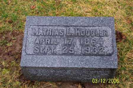 KOOGLER, MATTHIAS L - Logan County, Ohio | MATTHIAS L KOOGLER - Ohio Gravestone Photos
