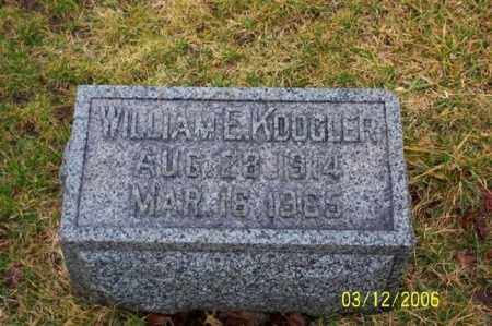 KOOGLER, WILLIAM E - Logan County, Ohio | WILLIAM E KOOGLER - Ohio Gravestone Photos