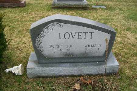 LOVETT, DWIGHT HUG - Logan County, Ohio | DWIGHT HUG LOVETT - Ohio Gravestone Photos