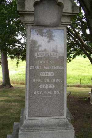 MAKEMSON, ARABELLA - Logan County, Ohio | ARABELLA MAKEMSON - Ohio Gravestone Photos