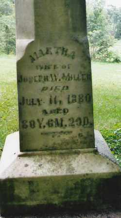 WHANN MILLER, MARTHA - Logan County, Ohio | MARTHA WHANN MILLER - Ohio Gravestone Photos
