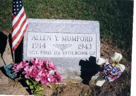 MUMFORD, ALLEN Y - Logan County, Ohio | ALLEN Y MUMFORD - Ohio Gravestone Photos