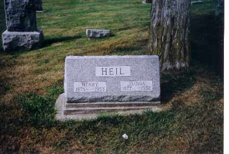 HEIL, JOANNA - Logan County, Ohio | JOANNA HEIL - Ohio Gravestone Photos