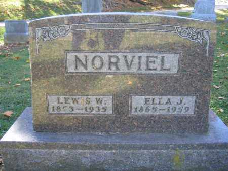 NORVIEL, ELLA J. - Logan County, Ohio | ELLA J. NORVIEL - Ohio Gravestone Photos