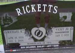 RICKETTS, VICKY JO PENHORWOOD - Logan County, Ohio | VICKY JO PENHORWOOD RICKETTS - Ohio Gravestone Photos