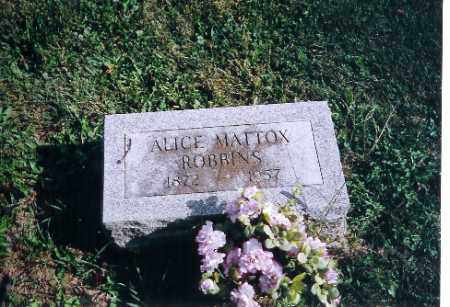 ROBBINS, ALICE L MATTOX - Logan County, Ohio | ALICE L MATTOX ROBBINS - Ohio Gravestone Photos