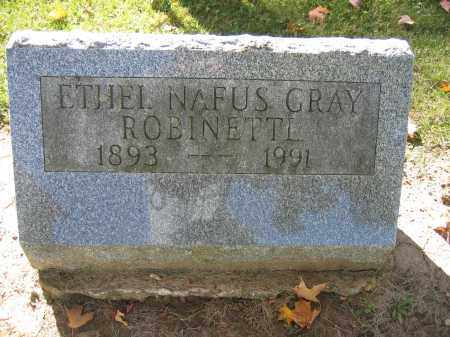 ROBINETTL, ETHEL NAFUS GRAY - Logan County, Ohio | ETHEL NAFUS GRAY ROBINETTL - Ohio Gravestone Photos