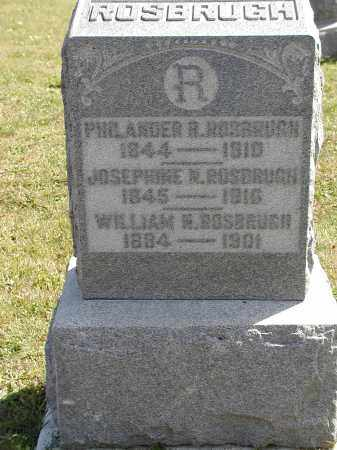 ROSBRUGH, WILLIAM N. - Logan County, Ohio | WILLIAM N. ROSBRUGH - Ohio Gravestone Photos