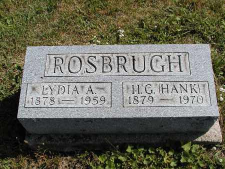 ASHLEY ROSBURGH, LYDIA A. - Logan County, Ohio | LYDIA A. ASHLEY ROSBURGH - Ohio Gravestone Photos
