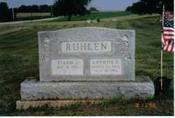 RUHLEN, ARTHUR E - Logan County, Ohio | ARTHUR E RUHLEN - Ohio Gravestone Photos