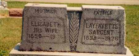 "SARGENT, ELIZABETH ""LIZZIE"" STEVENS - Logan County, Ohio | ELIZABETH ""LIZZIE"" STEVENS SARGENT - Ohio Gravestone Photos"
