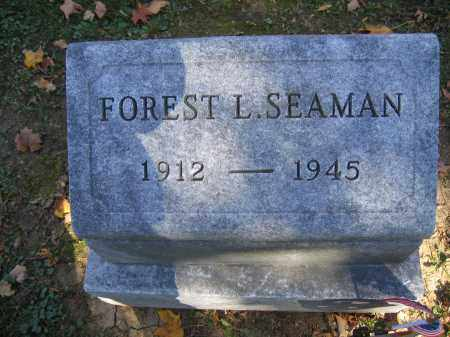 SEAMAN, FOREST L. - Logan County, Ohio | FOREST L. SEAMAN - Ohio Gravestone Photos