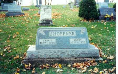 FORSYTHE SHOFFNER, CARRIE - Logan County, Ohio | CARRIE FORSYTHE SHOFFNER - Ohio Gravestone Photos