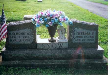 SNOW, RAYMOND W - Logan County, Ohio | RAYMOND W SNOW - Ohio Gravestone Photos