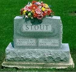 STOUT, MARTHA M. - Logan County, Ohio | MARTHA M. STOUT - Ohio Gravestone Photos